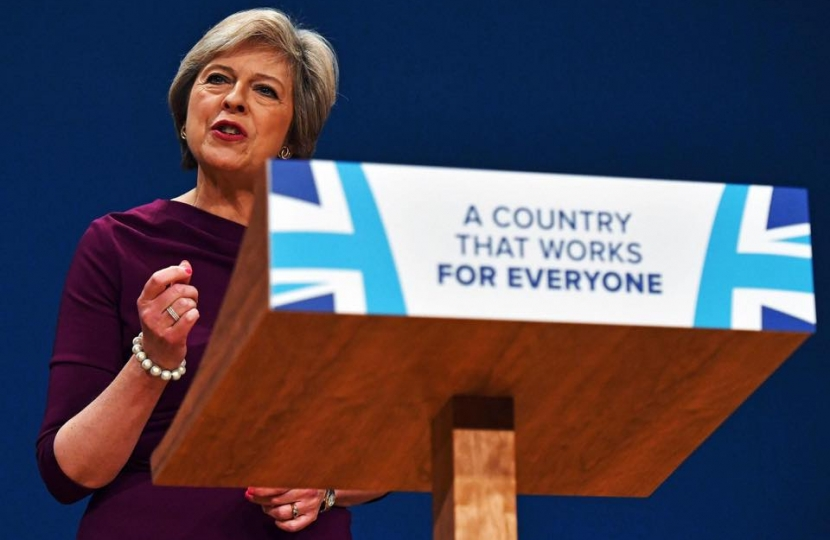 Theresa May speaks at Party Conference