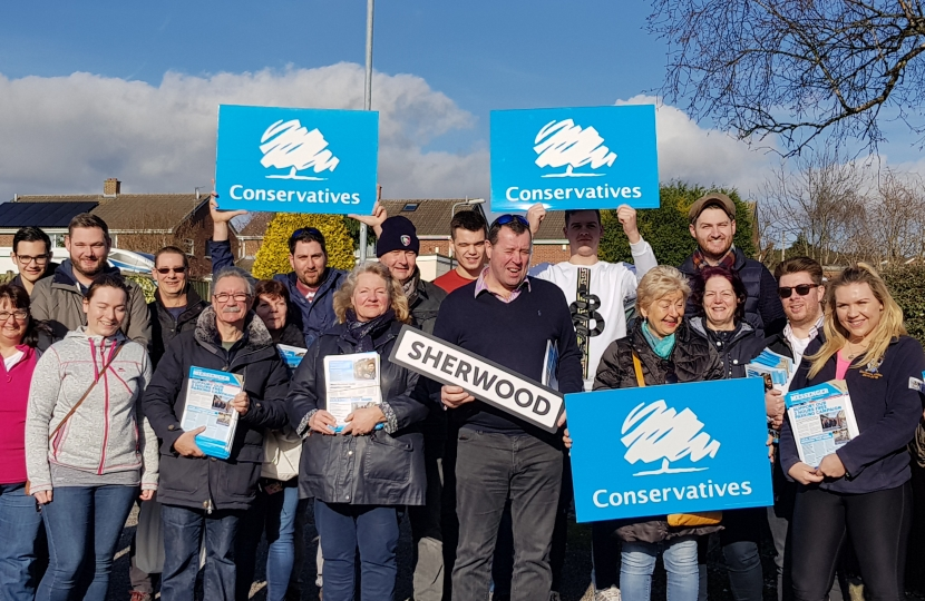 Sherwood Conservatives, campaigning for you!